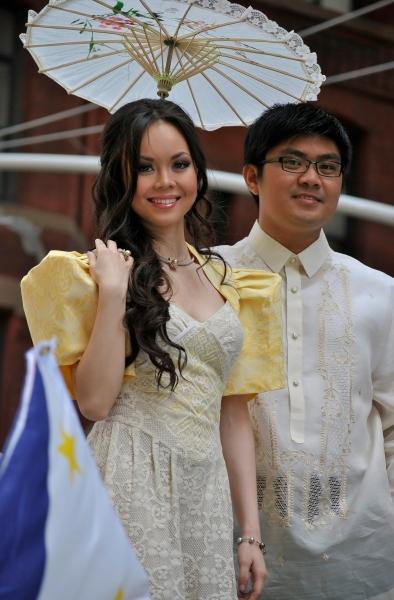 Anna Maria Perez de Tagle, Robby Manubay at De Tagle, Go, Broadway Barkada et al. at 114th Philippine Independence Celebration