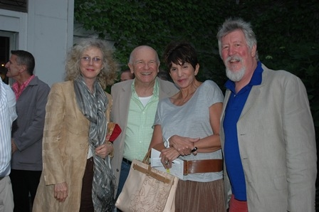 Blythe Danner, Terrence McNally, Mercedes Ruehl and David Geiser at Inside Opening Night of Bay Street's MY BRILLIANT DIVORCE