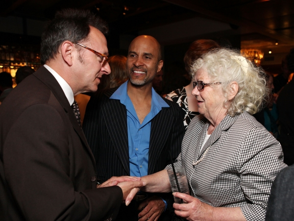 Micheal Emerson, cast member Julio Monge and Book & Lyrics Writer Ellen Fitzhugh