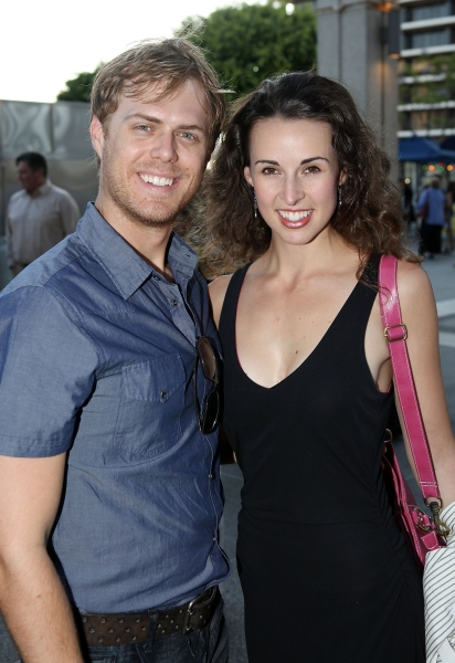 Todd MacIntyre and FOLLIES actress Becky Elizabeth Stout  Photo