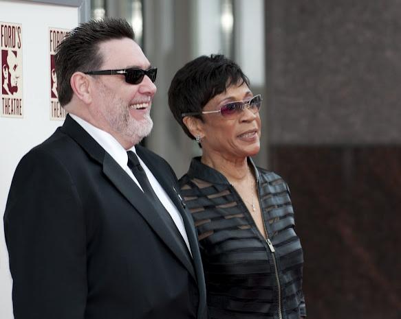 Bettye LaVette and husband Kevin Kiley at Morgan Freeman, Matthew Morrison, et al. at Ford's Theatre's 2012 Gala