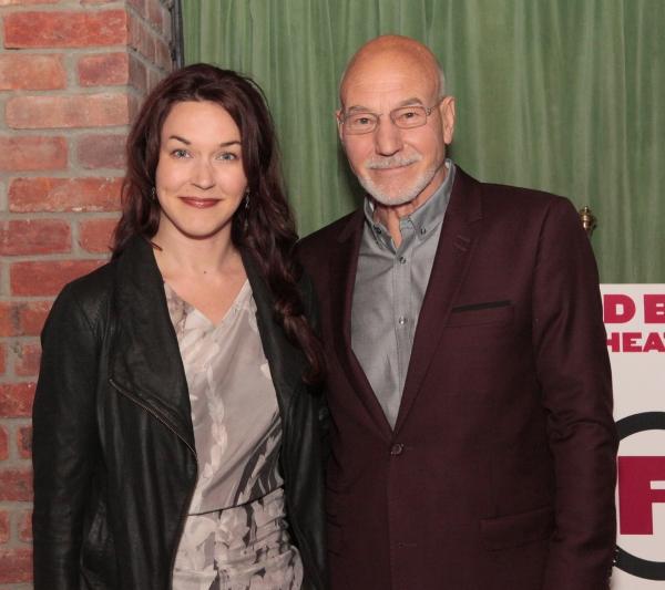 Sunny Ozell & Patrick Stewart Photo
