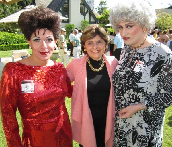 Judy Garland (Peter Mac) & Bea Arthur (John Schaefer) with Gloria Allred Photo