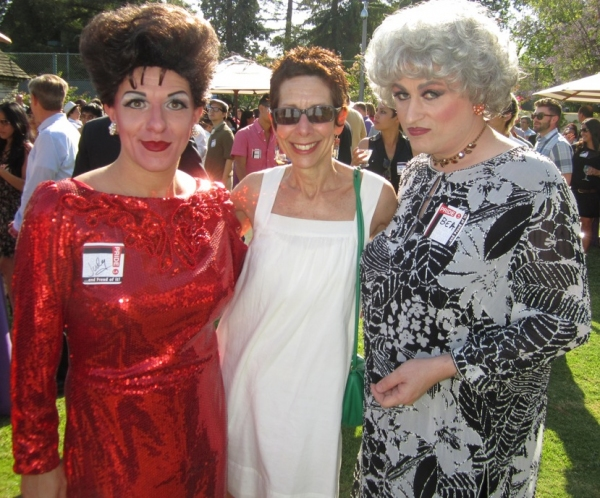 Judy Garland (Peter Mac) & Bea Arthur (John Schaefer) with West Hollywood's Mayor Pro Tempore Abbe Land