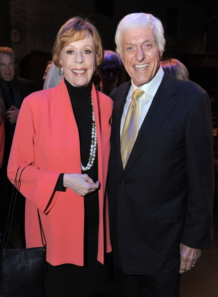 "In this image provided by Geffen Playhouse, Dick Van Dyke and Carol Burnett attend the ""Backstage At The Geffen"" Fundraiser on Monday, June 4, 2012 in Los Angeles. (Photo by Jordan Strauss/Invision for Geffen Playhouse)"
