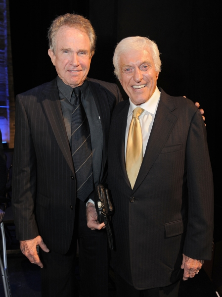 "Warren Beatty and Dick Van Dyke attend the ""Backstage At The Geffen"" Fundraiser on Monday, June 4, 2012 in Los Angeles. (Photo by Jordan Strauss/Invision for Geffen Playhouse)"