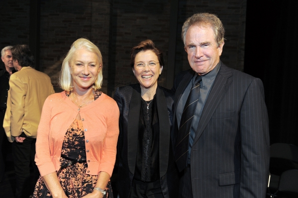 "Helen Mirren, Annette Bening and Warren Beatty attend the ""Backstage At The Geffen"" Fundraiser on Monday, June 4, 2012 in Los Angeles. (Photo by Jordan Strauss/Invision for Geffen Playhouse)"