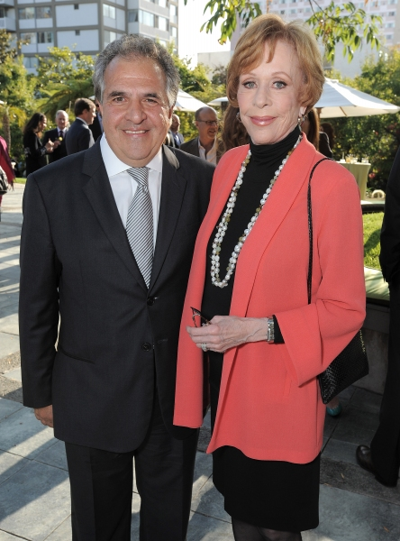 "Jim Gianopulos and Carol Burnett attend the host committee dinner  for the ""Backstage At The Geffen"" Fundraiser on Monday, June 4, 2012 in Los Angeles. (Photo by Jordan Strauss/Invision for Geffen Playhouse)"