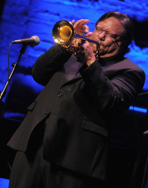 "Arturo Sandoval performs at the ""Backstage At The Geffen"" Fundraiser on Monday, June 4, 2012 in Los Angeles. (Photo by Jordan Strauss/Invision for Geffen Playhouse)"