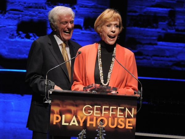 In this image provided by Geffen Playhouse, Dick Van Dyke and Carol Burnett attend the 'Backstage At The Geffen' Fundraiser on Monday, June 4, 2012 in Los Angeles. (Photo by Jordan Strauss/Invision for Geffen Playhouse) at Carol Burnett, Jane Lynch, Matthew Morrison et al. at BACKSTAGE AT THE GEFFEN Fundraiser