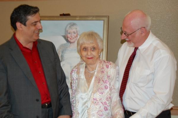 Joel Spector, Celeste Holm and Frank Basile