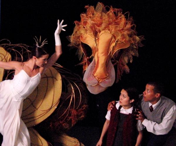 The White Witch (Morgann Rose), Aslan (portrayed by Michael John Casey, Betsy Rosen,  Photo
