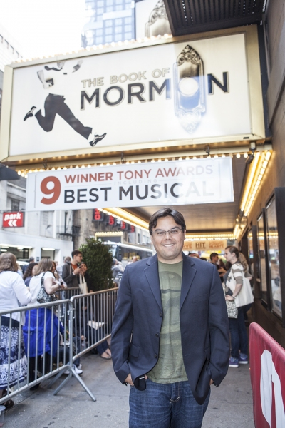 Robert Lopez at Inside THE BOOK OF MORMON's Fan Performance!