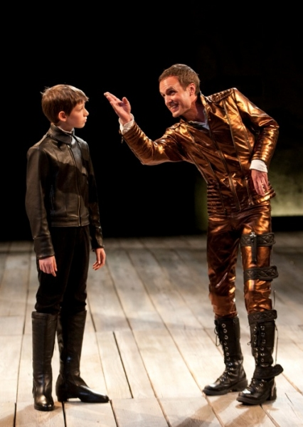 Jonas McMullen as Edward, Prince of Wales and Jay Whittaker as Richard III Photo