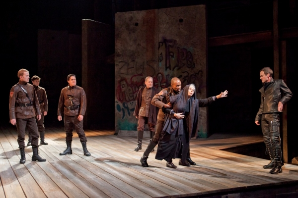 Jay Whittaker as Richard III (far right) with (from left) Jeremy Fisher, Sean-Michael Wilkinson, Christopher Salazar, Robert Foxworth, Jacques C. Smith and Robin Moseley