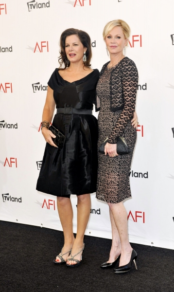 Marcia Gay Harden and Melanie Griffith at Shirley MacLaine, Meryl Streep & More at The AFI Life Achievement Awards Honouring Shirley MacLaine