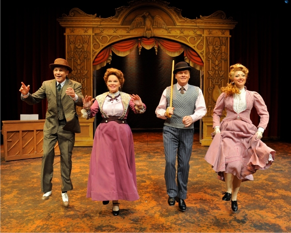 Jim Walton (as Jerry Cohan), Melodie Wolford (as Nellie Cohan), John Scherer (as George M. Cohan) and Amanda Trusty (as Josie Cohan)