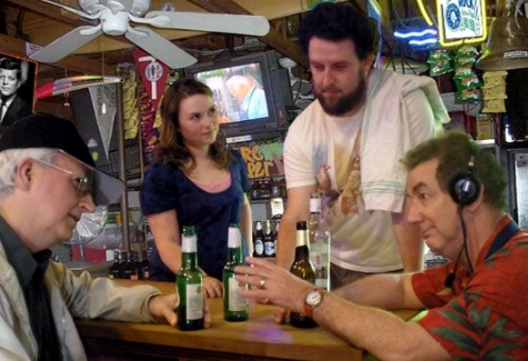 Tom Underwood as Palmer, Maggie Tibus as Janet, David Widmayer as Adam, Larry Rusinsky as Ray