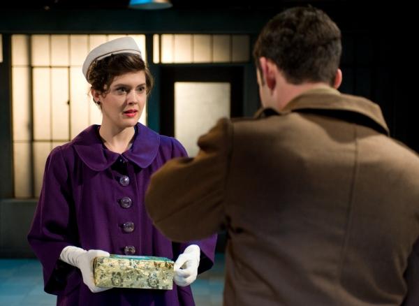 Effie (Grace Rex) greets husband Franklin (Jurgen Hooper) when he returns from the Korean War in LIFE AND LIMB