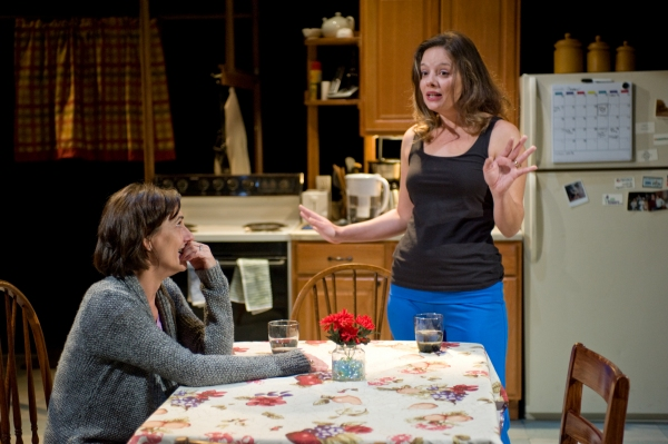 Kate Deckhouse (Janet Ulrich Brooks) discusses her familial past with Amy (Nicole Wiesner)