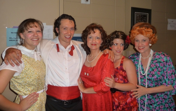 Stephanie Wright, Brad Burns, Laura Williams, Michelle Valenti and Marilyn Fair from Bye Bye Birdie at The Renaissance Center