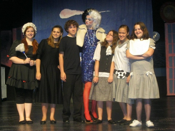 Ryan Bowie and company from The Roxy's 101 Dalmatians Jr. Photo