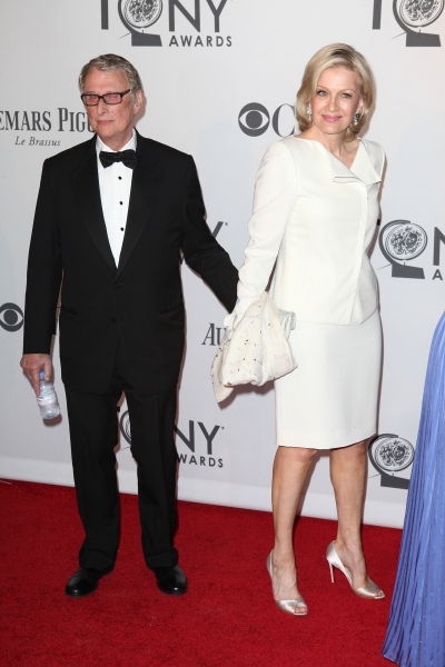 Mike Nichols and Diane Sawyer pictured at the 66th Annual Tony Awards held at The Beacon Theatre in New York City , New York on June 10, 2012. © Walter McBride / Retna Ltd