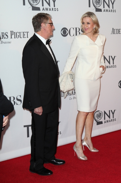 Mike Nichols and Diane Sawyer pictured at the 66th Annual Tony Awards held at The Beacon Theatre in New York City , New York on June 10, 2012. © Walter McBride / Retna Ltd at 2012 Tony Awards Red Carpet- Part 2!