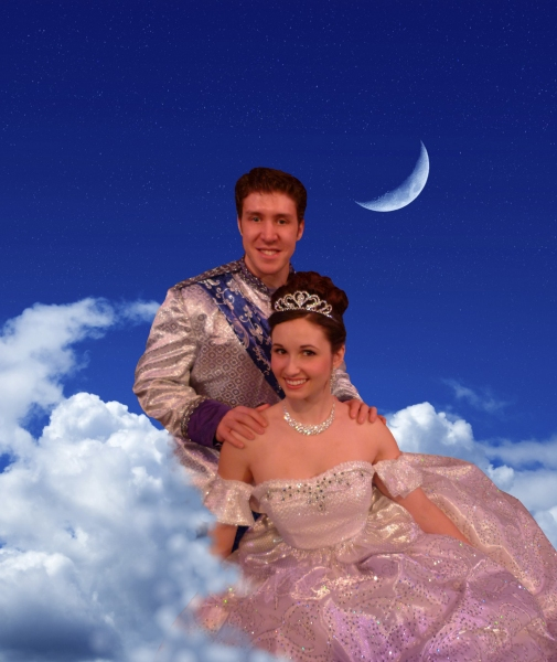 Matthew Dailey as Prince Christopher and Jenna Bainbridge as Cinderella