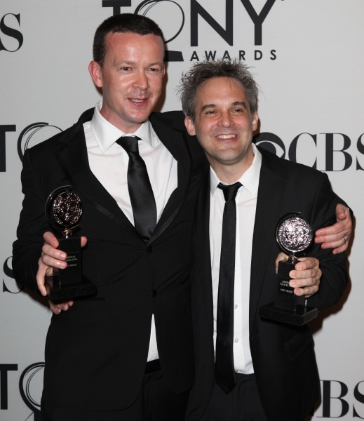 Enda Walsh & Martin Lowe at Inside the Tonys Winners Room!