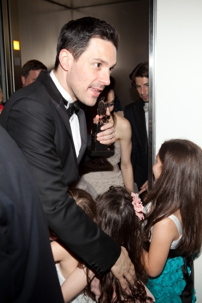 Steve Kazee and the girls at ONCE Celebrates its Winning Night - Inside the Show's After Party!