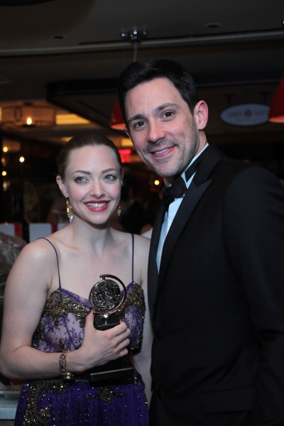 Amanda Seyfried, Steve Kazee at Inside the Tony Ball at the Plaza Hotel - Audra McDonald, Will Swenson, Neil Patrick Harris & More!