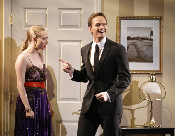 Host Neil Patrick Harris performs during the opening act with Amanda Seyfried