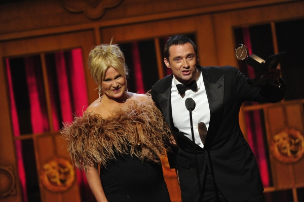 Deborra-Lee Furness and Hugh Jackman at the 66th annual Tony Awards in New York on June 10, 2012 at Inside the 2012 Tony Ceremony - Winners, Shows & More!