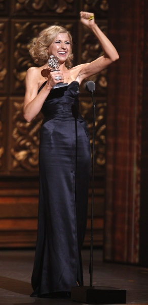 Nina Arianda accepts the award for Best Performance By An in a Leading Role in a Play for her performance in 'Venus in Fur'