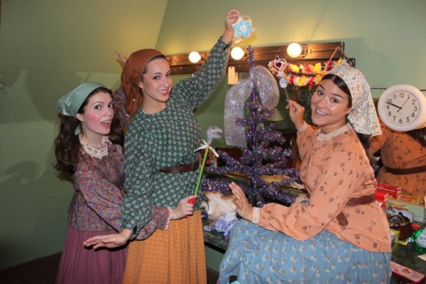Tevye's daughters Jennifer Richmond, Mia Rose and Erica Haines Photo