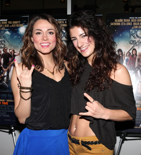 Neka Zang & Tessa Alves at Broadway Celebrates ROCK OF AGES Film in Times Square