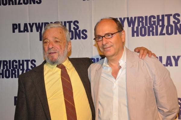Stephen Sondheim and James LaPine at James Lapine, Bruce Norris, Stephen Sondheim Honored at Playwrights Horizons Gala!