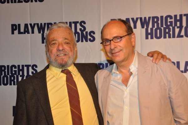 Stephen Sondheim and James LaPine at James Lapine, Bruce Norris, Stephen Sondheim Honored at Playwrights Horizons Gala!