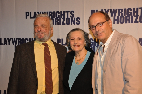 Stephen Sondheim, Dana Ivey and James LaPine at James Lapine, Bruce Norris, Stephen Sondheim Honored at Playwrights Horizons Gala!