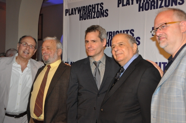 James LaPine, Stephen Sondheim, Bruce Norris, Alfred Uhry and Doug Wright at James Lapine, Bruce Norris, Stephen Sondheim Honored at Playwrights Horizons Gala!