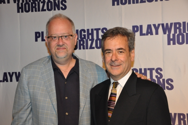 Doug Wright and Mark Nelson at James Lapine, Bruce Norris, Stephen Sondheim Honored at Playwrights Horizons Gala!