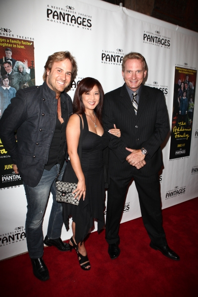 Rex Smith with wife Tracy Lin and Jimmy Mulligan