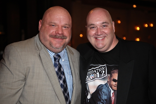 Original Broadway Kevin Chamberlin and THE ADDAMS FAMILY's Blake Hammond at THE ADDAMS FAMILY's Opening Night at Pantages Theatre!