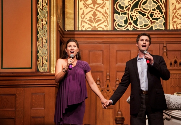 Matt Cavenaugh and Jenny Powers at Linda Hart, Matt Cavenaugh et al. Set for PRAISE! at at Middle Church, 6/17