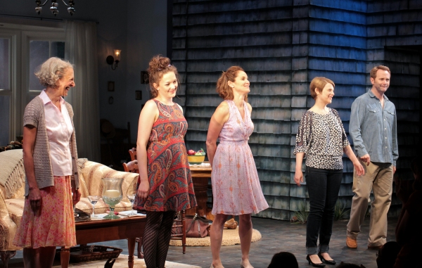 Beth Dixon, Virginia Kull, Amy Brenneman, Kellie Overbey, Lee Tergesen at RAPTURE, BLISTER, BURN Opens at Playwright's Horizons