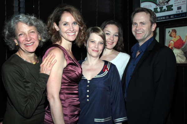 Beth Dixon, Amy Brenneman, Kellie Overbey, Virginia Kull, Lee Tergesen at RAPTURE, BLISTER, BURN Opens at Playwright's Horizons