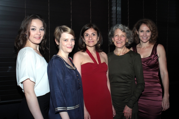 Virginia Kull, Kellie Overbey, Gina Gionfriddo, Beth Dixon, Amy Brenneman at RAPTURE, BLISTER, BURN Opens at Playwright's Horizons