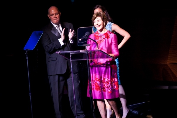 Kevin Ryan and Laura Bush at Jeremy Jordan, Laura Bush & More Honor Jon Bon Jovi; Support Homeless Youth