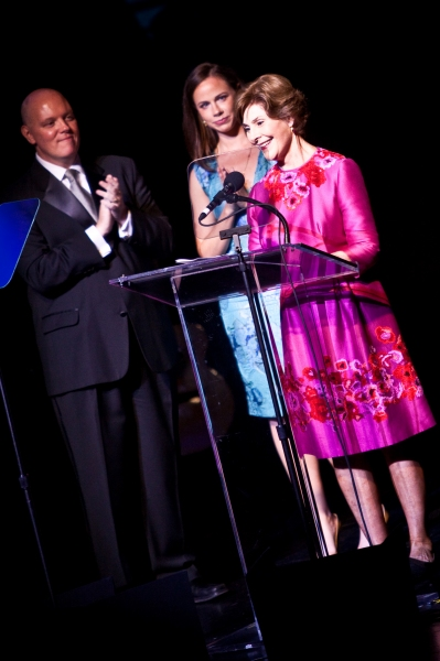 Kevin Ryan, Barbara Bush and Laura Bush Photo
